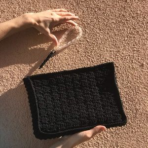 C O R D E Vintage Corde Medium Black Clutch